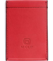 men's m-clip rfid card case - red