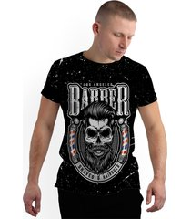 camiseta stompy new collection barbershop preto - kanui