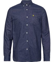 mottled shirt overhemd casual blauw lyle & scott