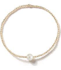 mizuki sea of beauty white akoya single pearl bracelet, size 6.75 in at nordstrom