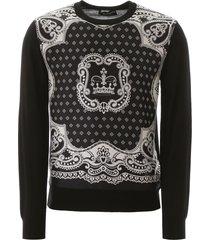 dolce & gabbana bandana print sweater