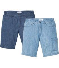 jeansbermudas i somrig denim (2-pack), normal passform