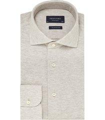 profuomo heren overhemd melange knitted oxford slim fit
