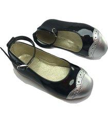 baleta negro - plata villabonr vnz-9032