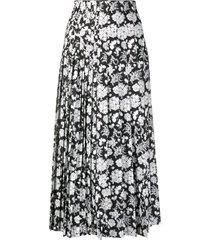 ermanno scervino mid-length pleated skirt - white