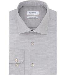 calvin klein men's steel classic/regular fit non-iron performance stretch fineline dress shirt