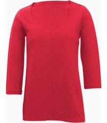 shirt met ronde hals voor haar, rood 46