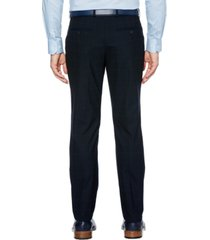 perry ellis men's slim-fit performance stretch windowpane dress pants
