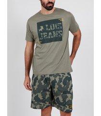 pyjama's / nachthemden admas for men pyjamashort t-shirt grass lois kaki admas