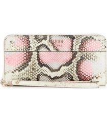 guess katey large zip-around wallet
