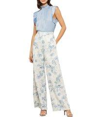 bcbgmaxazria floral-print wide-leg pants