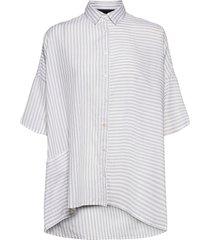 aashi shiritng short sleeve shirt overhemd met korte mouwen wit french connection