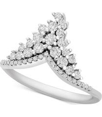 diamond tiara ring (1/2 ct. t.w.) in 10k white gold