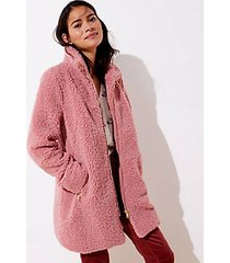 loft fleece funnel neck coat
