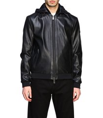 armani exchange jacket armani exchange bomber in synthetic leather