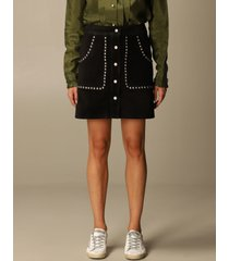 golden goose skirt golden goose mini skirt in suede with studs