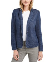 tommy hilfiger french terry knit blazer