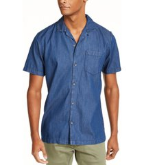 inc men's camp collar denim shirt, created for macy's