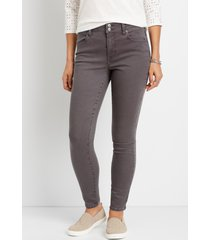 maurices womens vintage high rise dark gray jegging