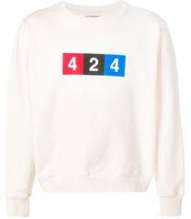 424 logo print sweatshirt - neutrals