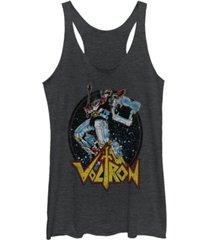 fifth sun voltron retro defender colorful fight sword tri-blend racer back tank