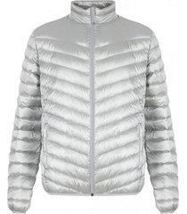chaqueta pluma eboni stripe gris doite