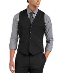 awearness kenneth cole awear-tech black extreme slim fit suit separates vest