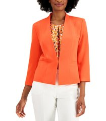 kasper petite collarless jacket