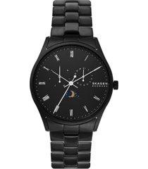 skagen men's holst black stainless steel bracelet watch 40mm