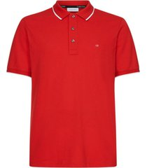 polo stretch tipping slim rojo calvin klein