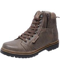 bota coturno em couro mega boots 6016 marrom