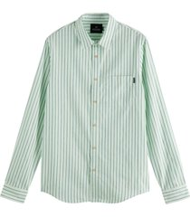 relaxed fit- shirt in yarn-dyed pat combo