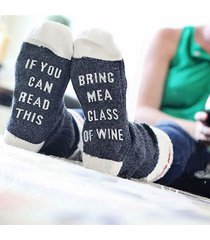 socks autumn  custom wine socks if you can read this bring me a glass of wine