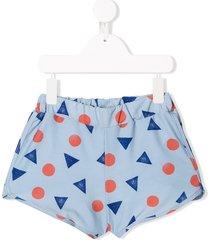 bobo choses pollen print swim shorts - blue