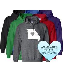 missouri hoodie sweatshirt love home heart unisex men women state