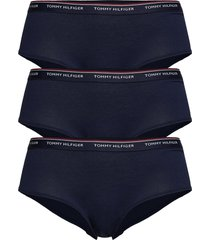 3p shorty lingerie panties hipsters/boyshorts/brazilian blå tommy hilfiger