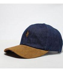 gorra azul wellington polo club