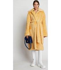 proenza schouler curly shearling coat apricot/yellow 12