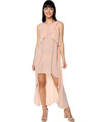 vestido volados ref. 157711 rosado charby rosado