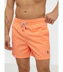 polo ralph lauren slim traveler swim shorts badkläder orange