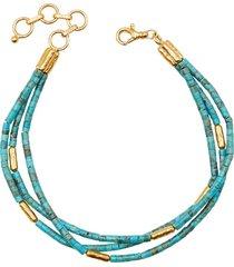 gurhan 24kt gold jet set triple strand bracelet - ylwgold