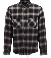 amiri tartan gradient shadow plaid shirt