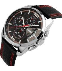 reloj análogo clásico hombre casual multi-dials creativo