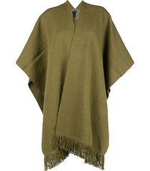 voz short-sleeve flared cardi-coat - green