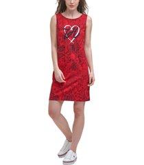 tommy hilfiger heart logo sleeveless dress