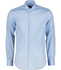 nils overhemd - extra lang - blauw