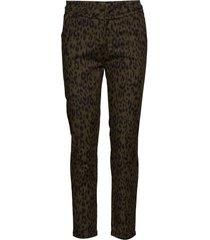 carma leo pants 7/8 pantalon met rechte pijpen bruin minus