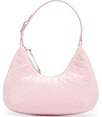 by far textured shoulder bag - pink