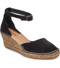 stb-salome ankle strap sandalette med klack espadrilles svart shoe the bear