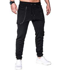 pantalones de chándal de pie con cierre de cremallera de moda para hombres